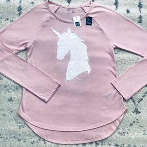 NEW. Gap Unicorn Long Sleeve